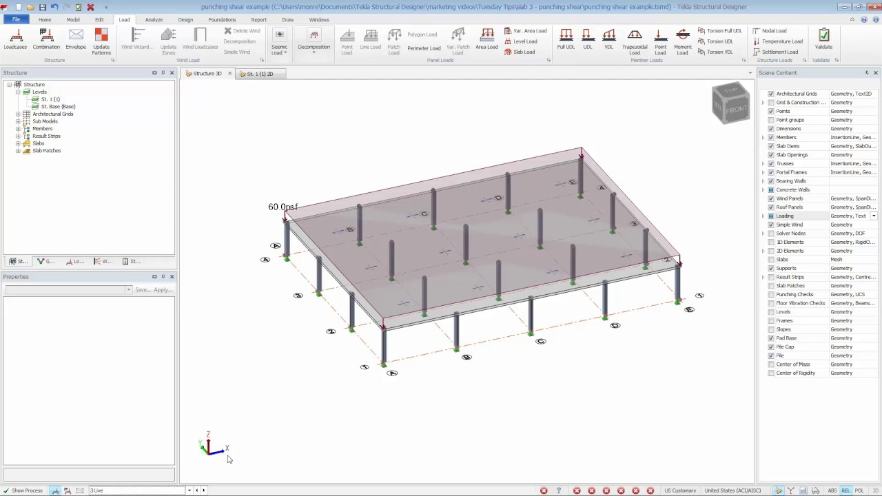 Tekla Structural Designer Allows You To Check For Punching
