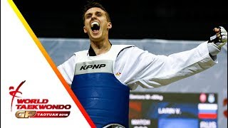 Taoyuan 2018 World Taekwondo GP-Final [male +80kg] Vladislav LARIN(RUS) vs Anthony Mylann OBAME(GAB)