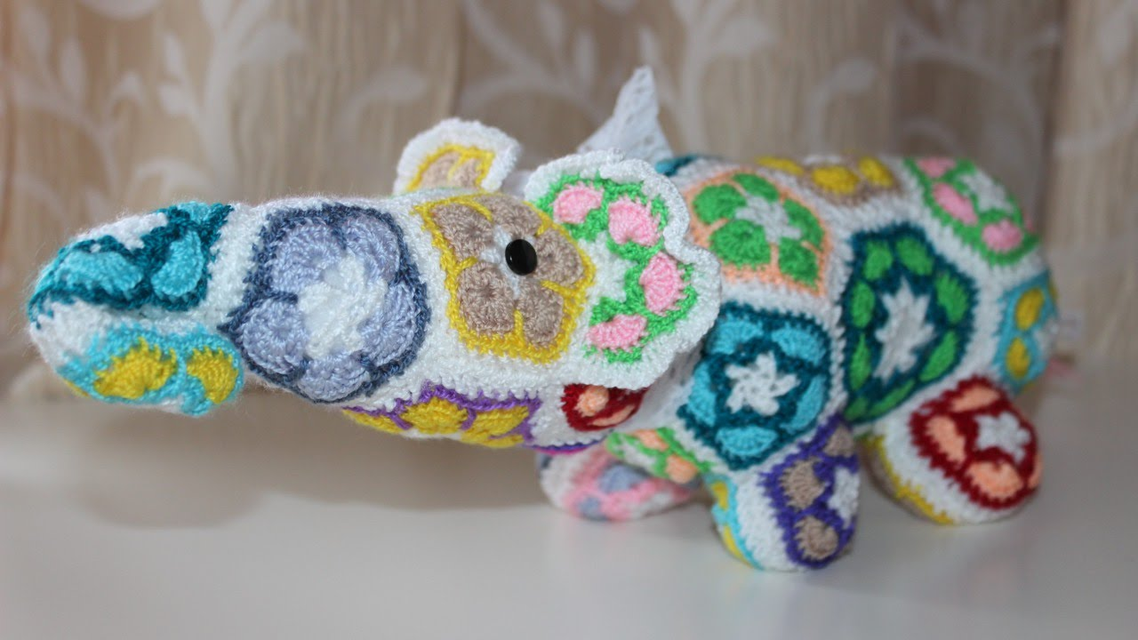 Make A Crochet African Flower Elephant Diy Crafts Guidecentral