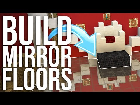 Build SHINY and MIRRORED Floors in Minecraft!