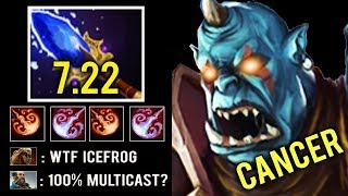 NEW CANCER 7.22 Scepter Ogre 75% Multicast +300 Damage Fireblast Craziest Gameplay by Srf Dota 2