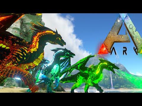 Ark Survival Evolved - FIRE, ICE, POISON DRAKE vs WARDEN, FAIL (Ark Modded Gameplay)
