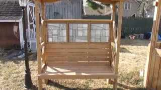 Shaded Tugboat Cedar Pergola Sitting Nook