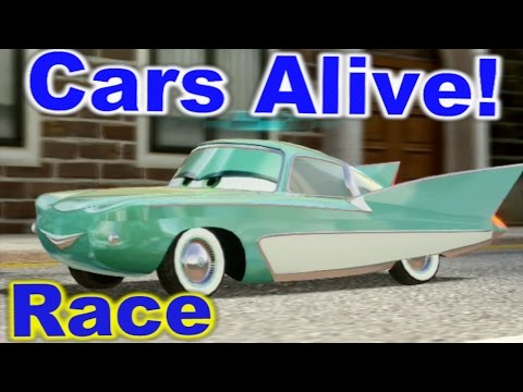Cars 2 The Video Game Flo Race On Hyde Tour Youtube