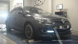 Renault Megane 3 1.6 dci 130cv Reprogrammation Moteur @ 154cv Digiservices Paris 77 Dyno