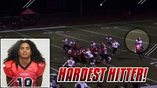 HARDEST HITTING HIGH SCHOOL PLAYER HIGHLIGHTS! Fotu Leiato