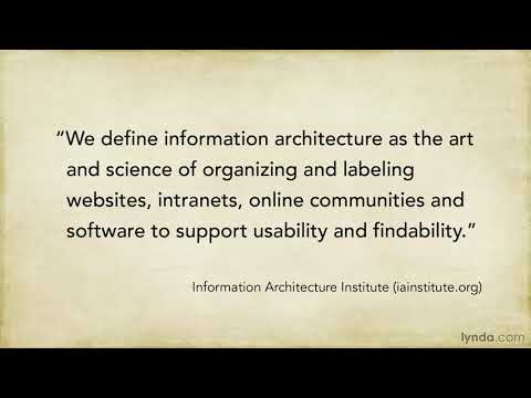 UX tutorial: What is information architecture? | lynda.com