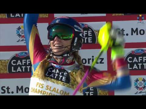 Ladies Slalom Race 2 2017 FIS Alpine World Ski Championships, St. Moritz