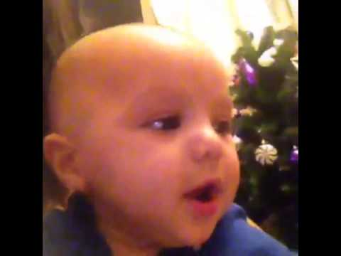 5 month old baby saying happy new year