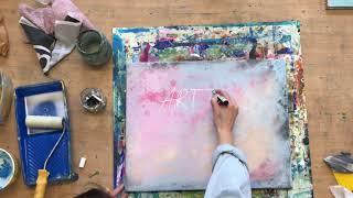 abstraktes Acryl Bild versiegeln, Sprüchetafel, Spruchbilder, Anfänger
