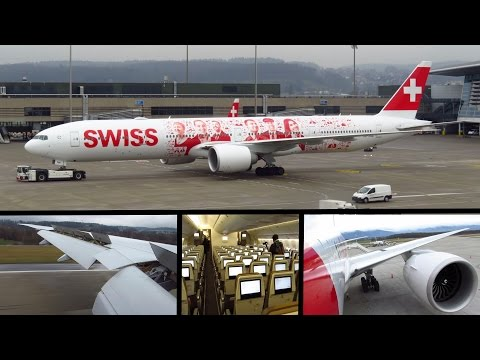 TRIP REPORT | SWISS NEW Boeing 777-300ER | Geneva to Zurich | FULL FLIGHT! (Economy) [Full HD]