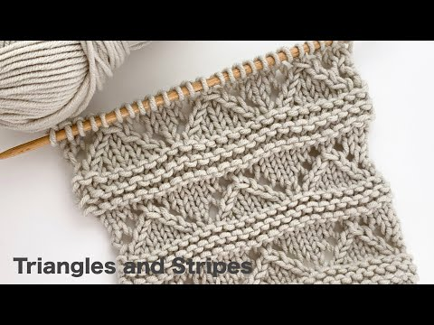 Triangles And Stripes | Knitting Stitch Patterns