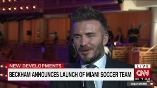 Beckham starts Miami soccer team