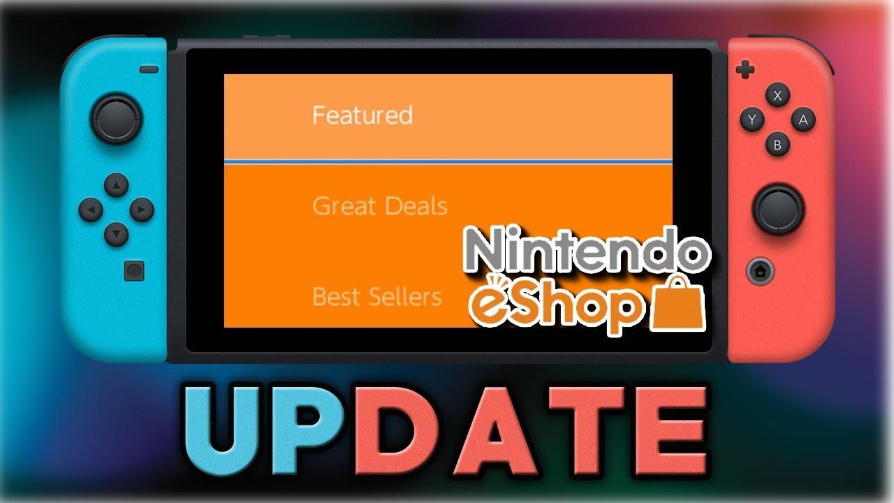 Nintendo Eshop Update Nintendo Switch Youtube