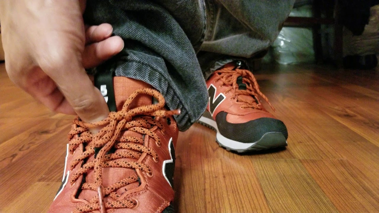 New Balance 574 Out East 'Copper' Sneaker - 'On Feet'