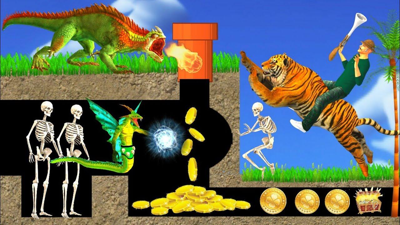 जादुई शेर खेल कहानी 3D Hindi Kahaniya Magical Game and Tiger Bed Time Stories हिंदी कहानिया