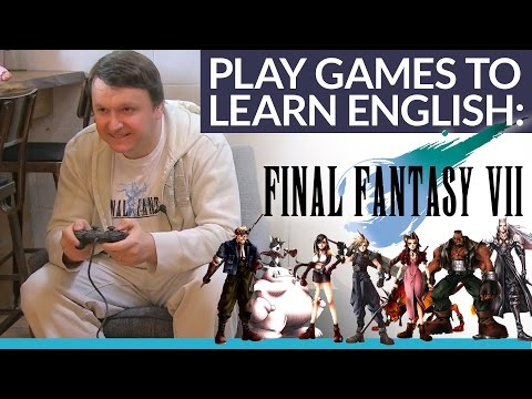 Learn English by playing Final Fantasy 7! Let's play and learn!