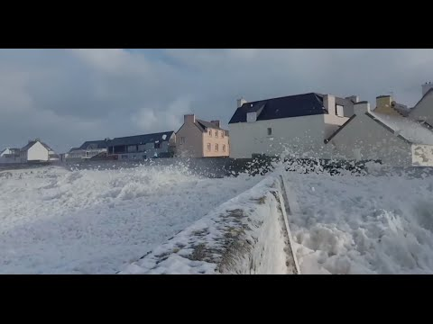 A sea foam blizzard blanketed a town in France with foam