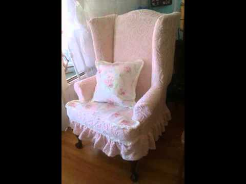 Sure Fit Wing Chair Slipcover Hanging Egg Cheap Collection Youtube