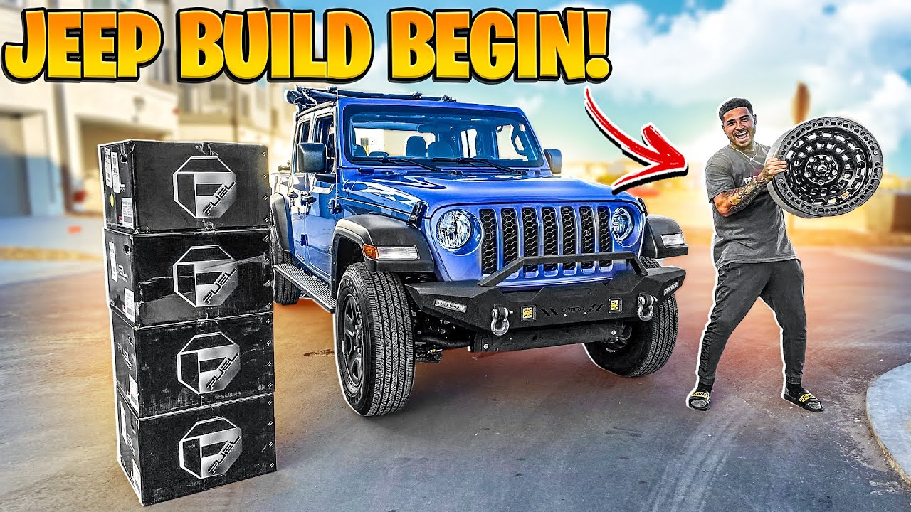 BUYING A CRAZY SET OF RIMS FOR MY JEEP GLADIATOR BULD ! ( MONSTER )   BRAAP VLOGS