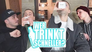 Wer trinkt schneller? | SANI vs. Shpender | Crewzember