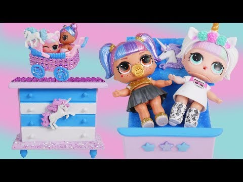 LOL Fake Bedroom Toys with Custom Unicorn Surprise Doll - #Hairgoals Series 5 Boy