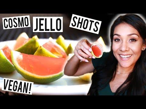 COSMOPOLITAN LIME JELLO SHOTS! (Vegan) - #ThirstyThursday