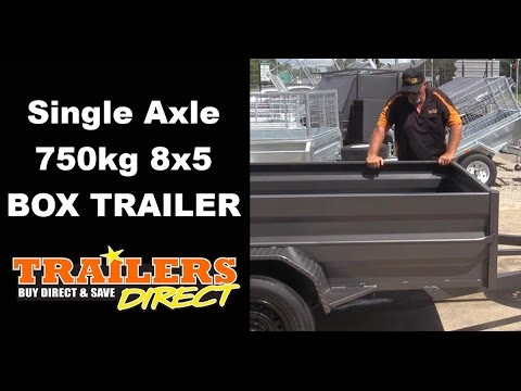 Single Axle Box Trailer By Trailers Direct - Ph 1300 866 869