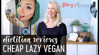 Dietitian Reviews Cheap Lazy Vegan   What I Eat in a Day Youtuber Review