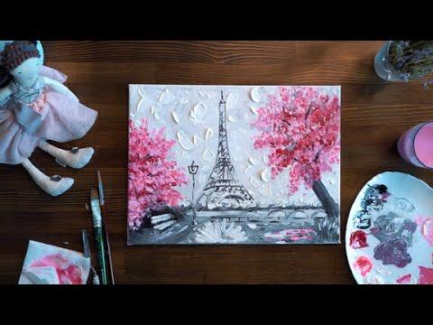 Видео уроки как рисовать акриловыми красками