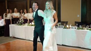SURPRISE Bride & Groom performance following their first dance!
