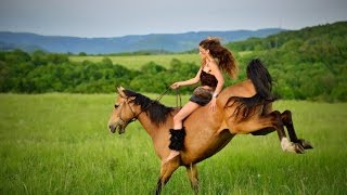 Horse FAILS, behind the scenes by Kristy M Ranch ( GoPro, helmet cam)
