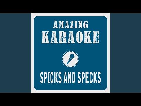 Spicks and Specks (Karaoke Version) (Originally Performed By Bee Gees)