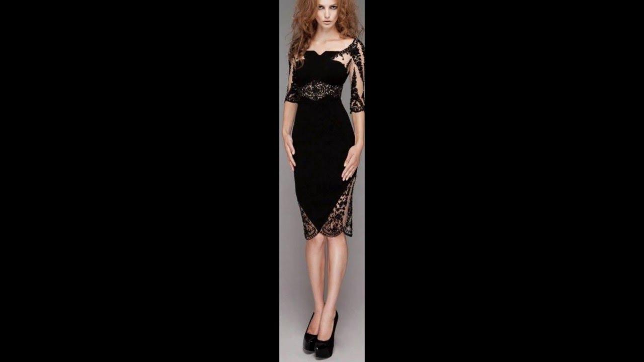 Vestidos de color negro para damas