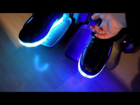 Leuchtende Schuhe mit Live Musik