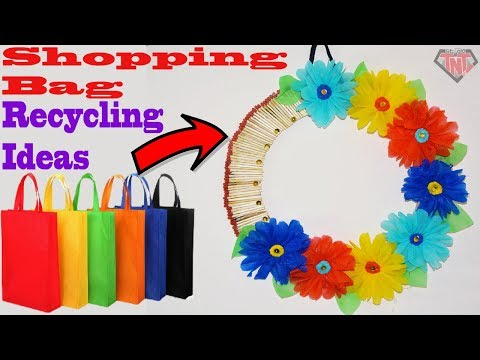 DIY Shopping Bag Wallmate || Tote Bag Wall Hanging Decoration Ideas