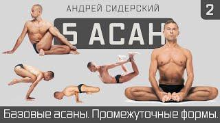 Промо | Андрей Сидерский | Базовые асаны. Промежуточные формы. Сидерский. 5-10