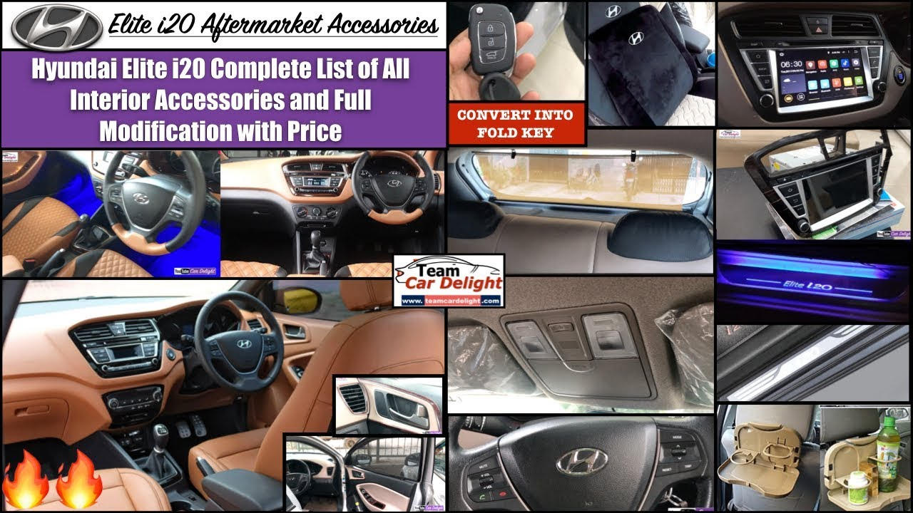 Elite i20 Full List of All Interior Accessories with Price ...