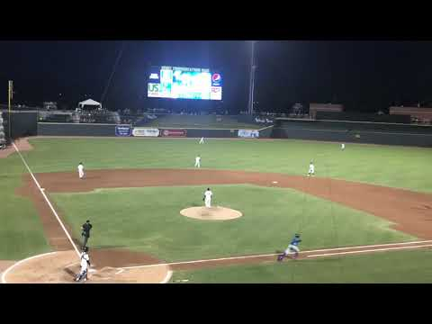Seuly Matias Homers in a South Atlantic League Game