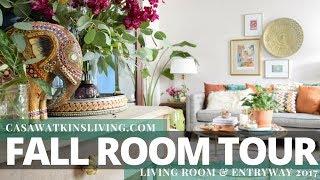 Boho Chic Fall Room Tour 2017 | Entryway & Living Room