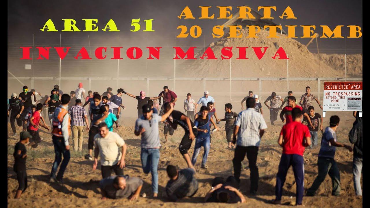Un millón de personas  preparan invasión en el Área 51. ¡Ejército de EU se prepara para repelerlos!