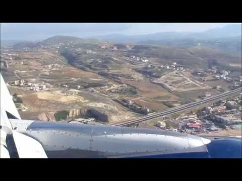 Olympic Air Airbus A320 Approach and Landing at Iraklio Nikos Kazantzakis International Airport