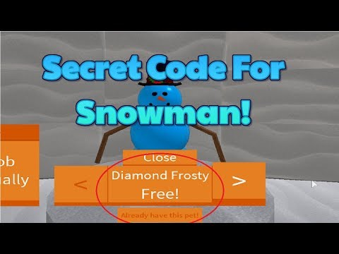 Roblox Snow Shovel Simulator New Pets! What is the code for the snowman pet in Snow Shovel Simulator