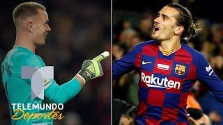 Locura en el Barcelona: Pase de Ter Stegen y gol de Griezmann | Telemundo Deportes