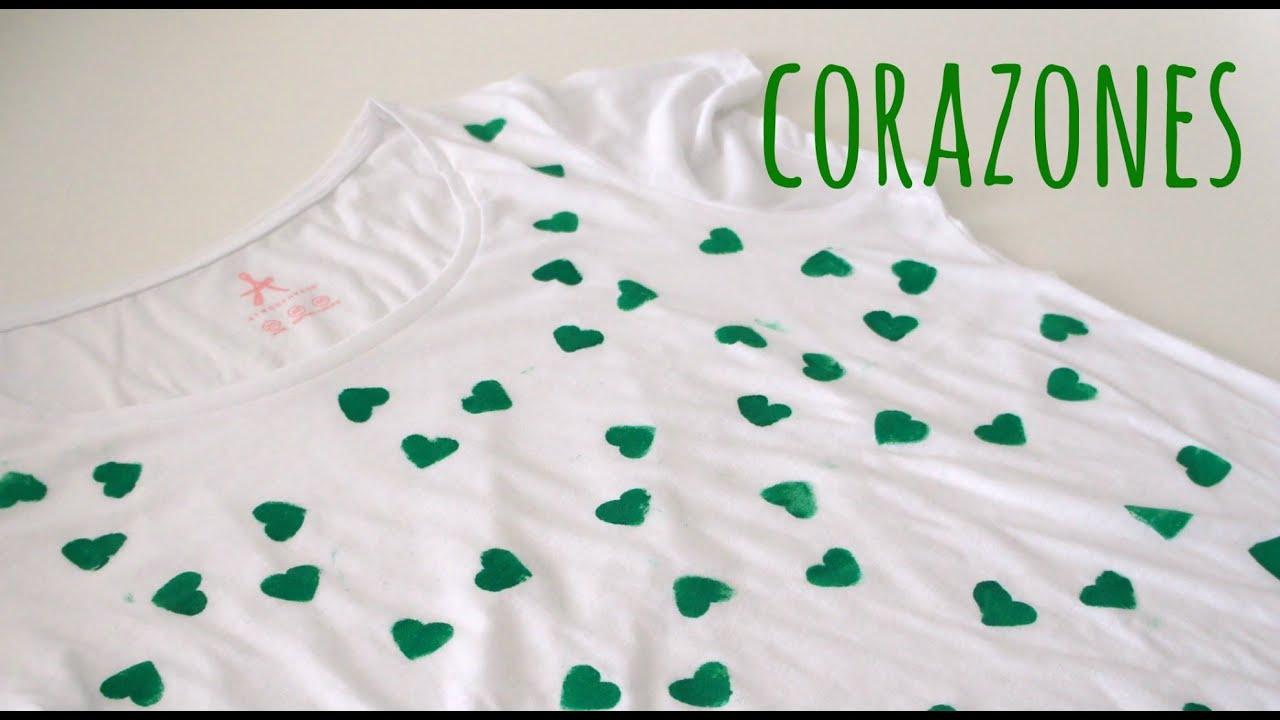 Tutorial para decorar una camiseta b sica con pintura - Pintura para camisetas ...