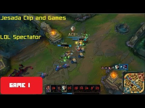 [Jesada Clip and Games]  LOL Spectator (game I) - See my fri