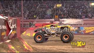 Max-D Double Backflip attempt - Monster Jam World Finals XIV Encore 2013 - Max-D 10th Anniversary thumbnail