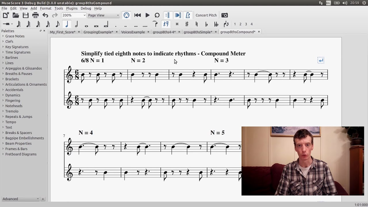GSoC with MuseScore - Semi-Realtime MIDI Demo Part 2: Rhythmic Groupings  and Voice Separation