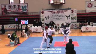 63kg Ahmet A. Yurtseven - Emre Varol (2012 Turkish Senyor Taekwondo Championships)