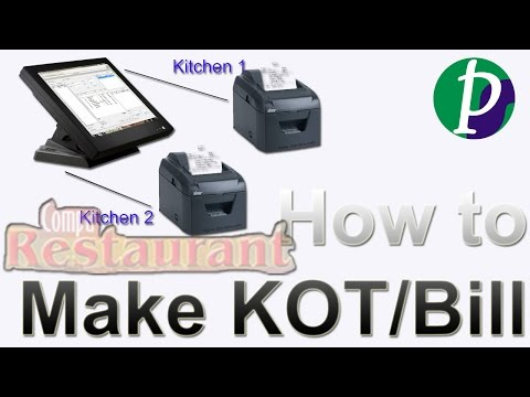 How to make KOT and Bill in Compu Restaurant Billing Software (Hindi)